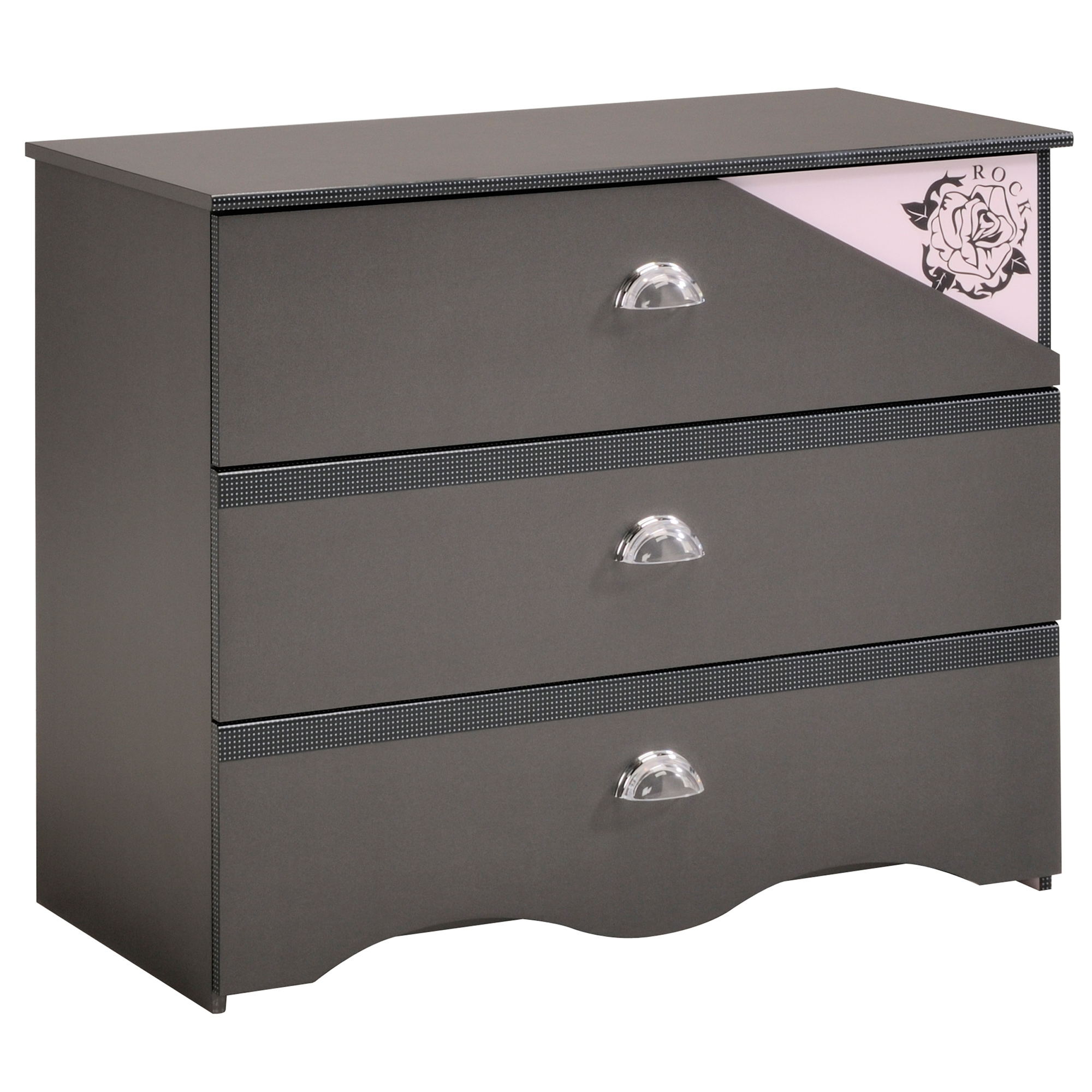 commode enfant grise glamour. Black Bedroom Furniture Sets. Home Design Ideas