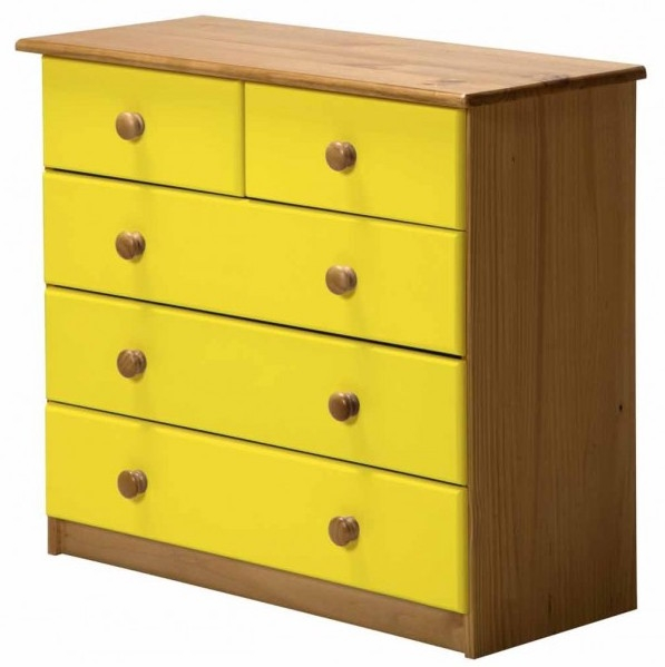 commode 3 2 pin massif miel et jaune aladin. Black Bedroom Furniture Sets. Home Design Ideas
