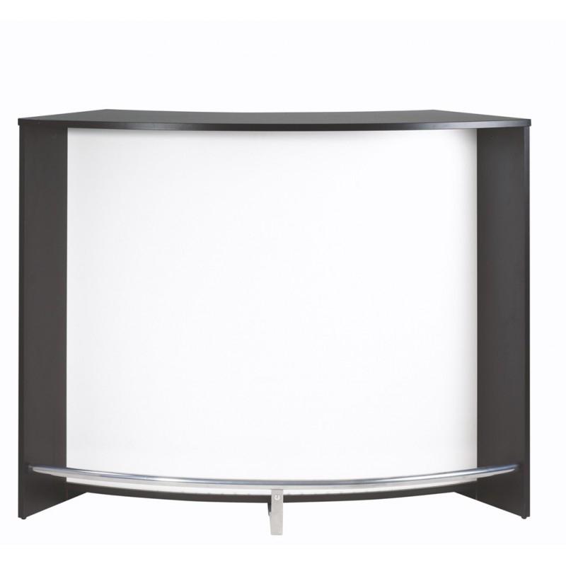 comptoir de bar blanc et noir snack 134. Black Bedroom Furniture Sets. Home Design Ideas