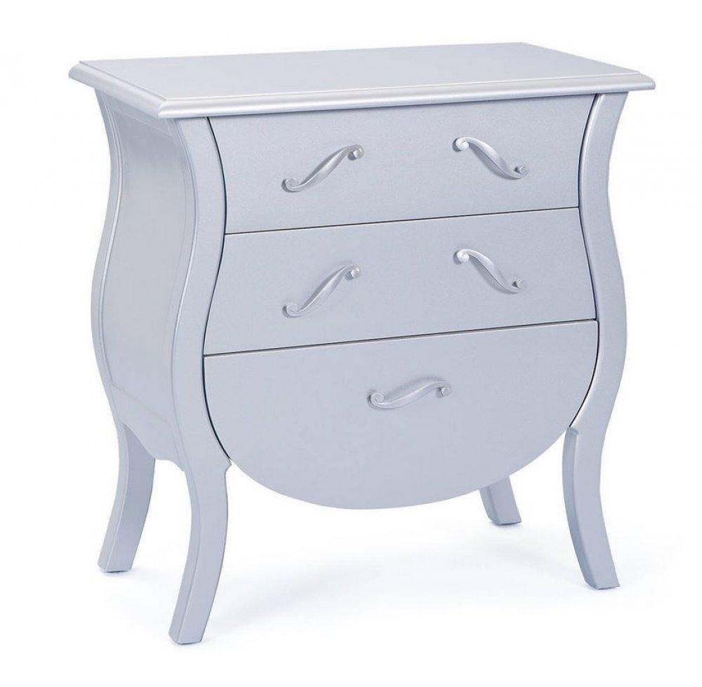 console baroque argent 3 tiroirs barokko. Black Bedroom Furniture Sets. Home Design Ideas