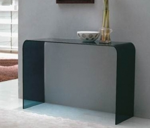 console design verre teint noir. Black Bedroom Furniture Sets. Home Design Ideas