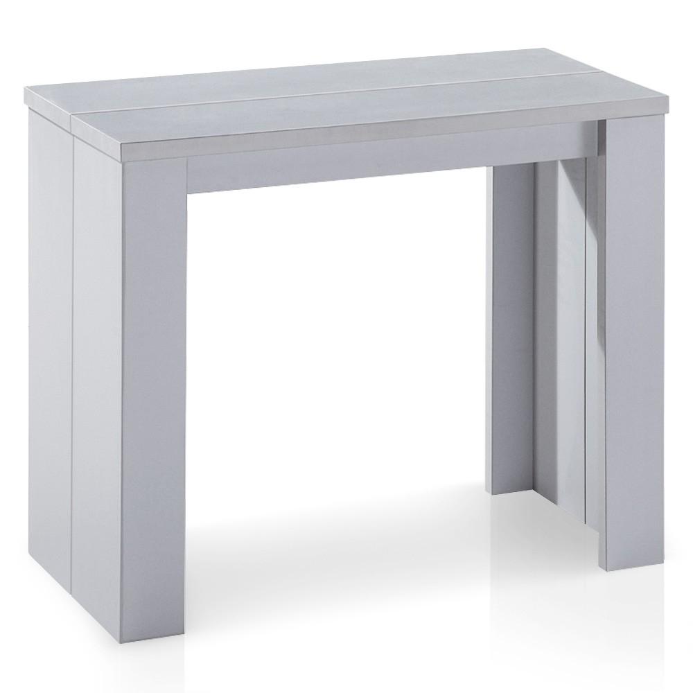 Console extensible argent kunz 40 190 cm 10 personnes for Table console extensible 10 personnes