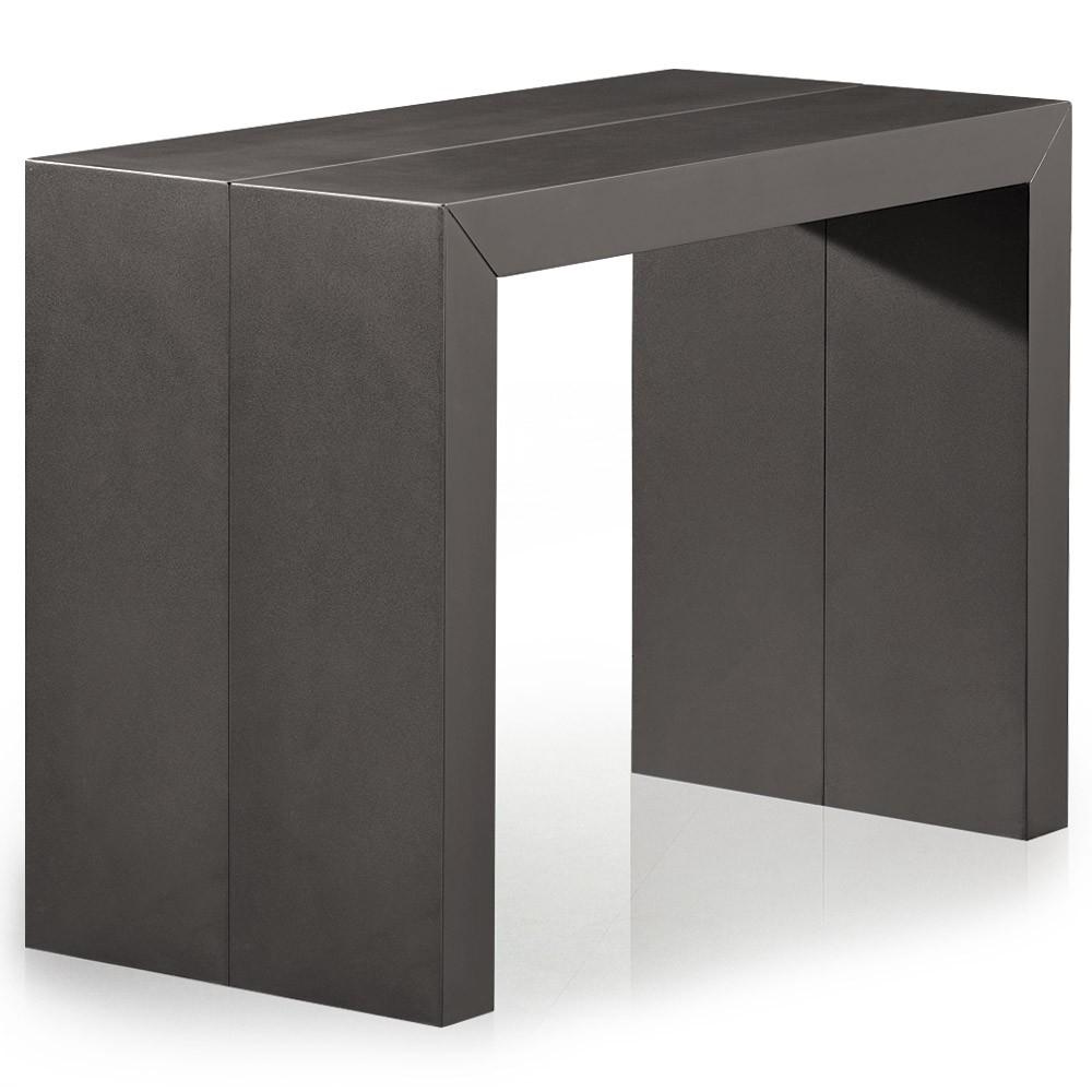 Console extensible gris carbone 50 250 cm 12 personnes - Console extensible 250 cm ...