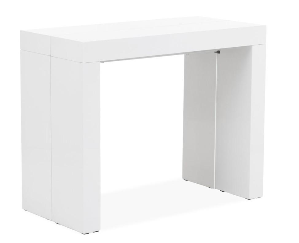 console extensible haut de gamme blanche henza 45 195 cm. Black Bedroom Furniture Sets. Home Design Ideas