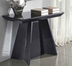 console extensible laqu e noire design. Black Bedroom Furniture Sets. Home Design Ideas
