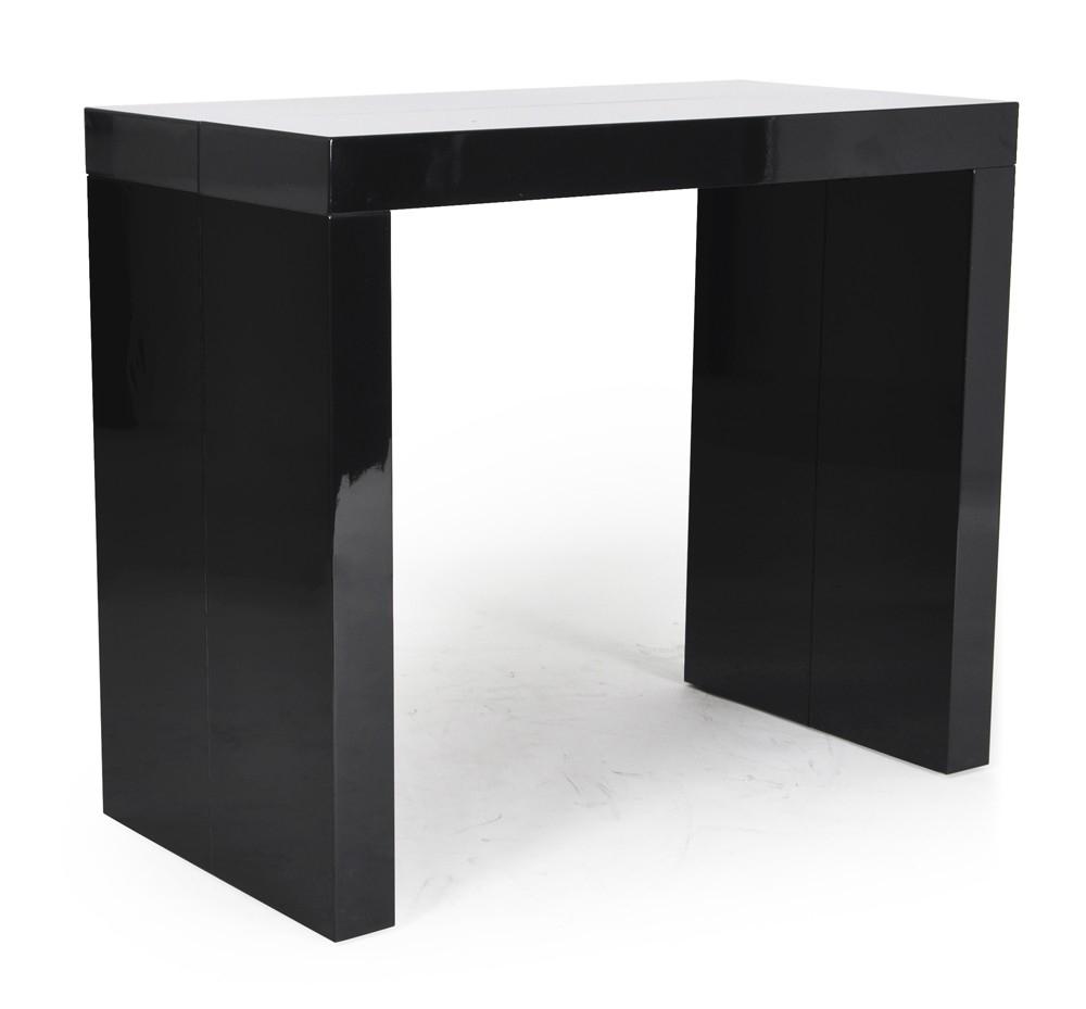 Console extensible noir 45 225cm 10 personnes for Table console extensible 10 personnes