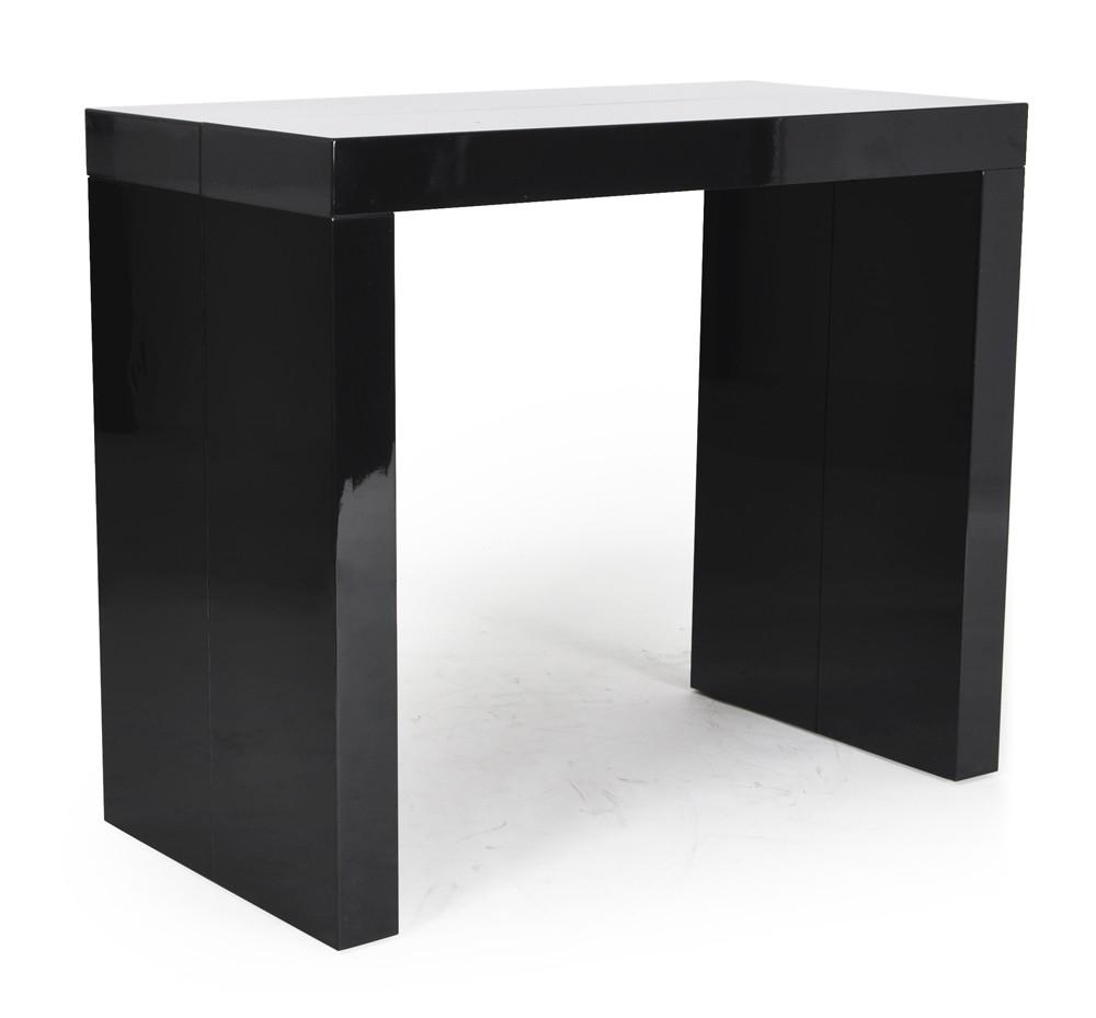 console extensible noir laqu e 45 180 cm 10 personnes. Black Bedroom Furniture Sets. Home Design Ideas