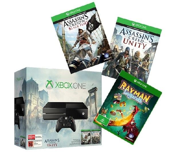 console xbox one 500 go jeu assassin 39 s creed iv black flag jeu assassin 39 s creed unity. Black Bedroom Furniture Sets. Home Design Ideas