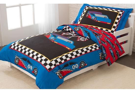 couette enfant voiture de course. Black Bedroom Furniture Sets. Home Design Ideas