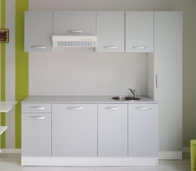 cuisine compl te blanc laqu e vitalia. Black Bedroom Furniture Sets. Home Design Ideas