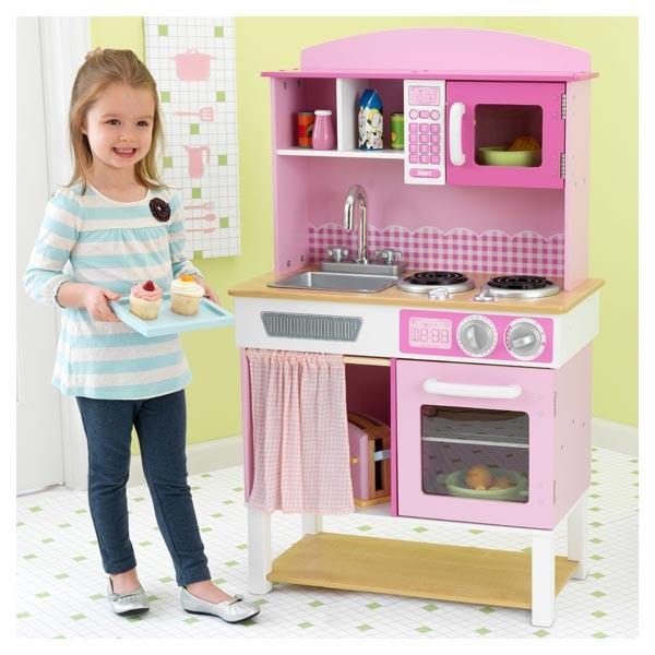 cuisine familiale kidkraft 53198. Black Bedroom Furniture Sets. Home Design Ideas