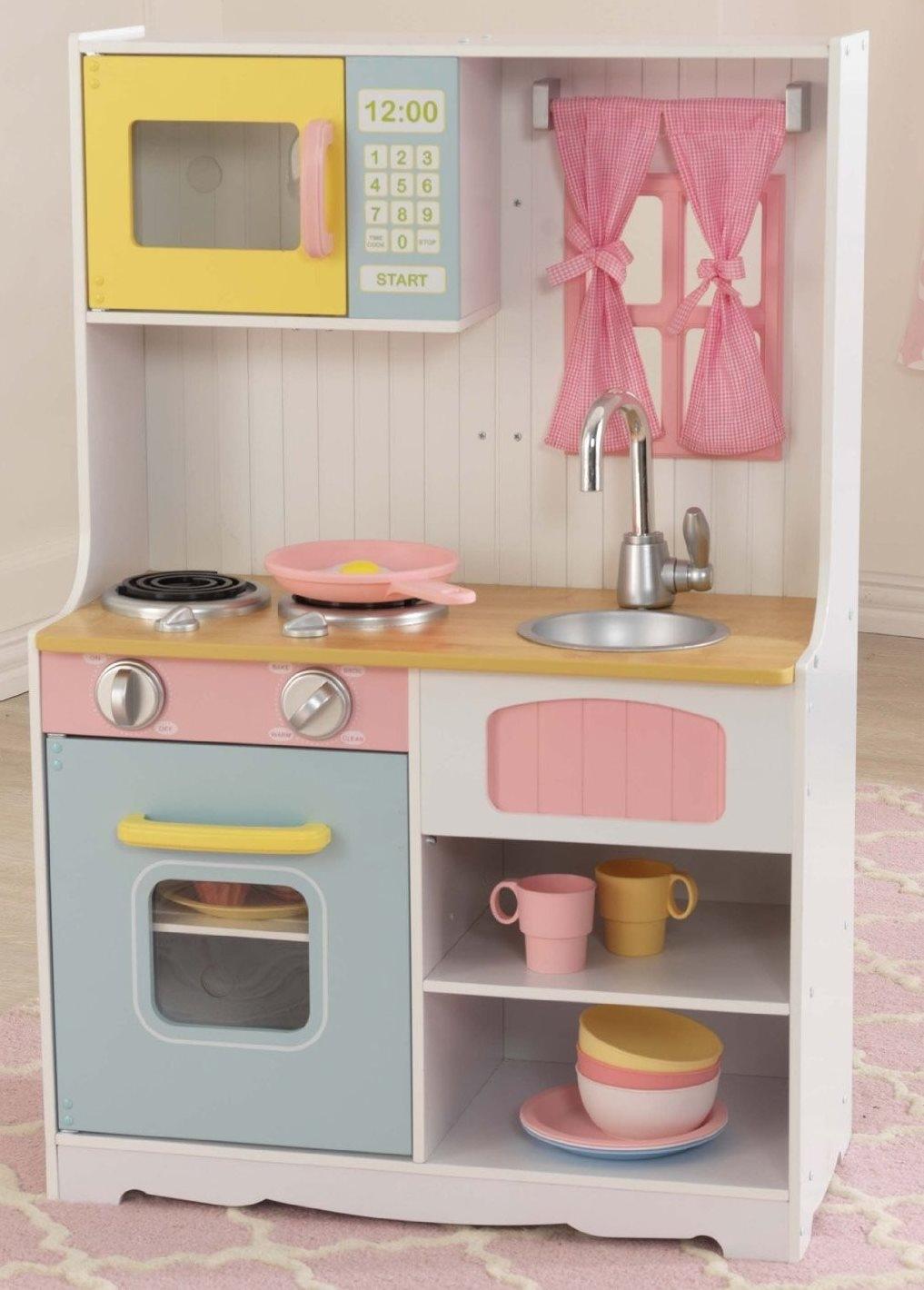 cuisine pastel country kidkraft 53354. Black Bedroom Furniture Sets. Home Design Ideas
