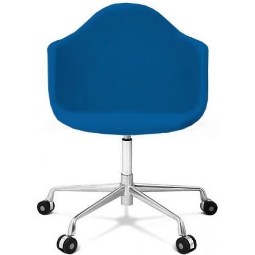 chaise de bureau bleu fonc burn. Black Bedroom Furniture Sets. Home Design Ideas