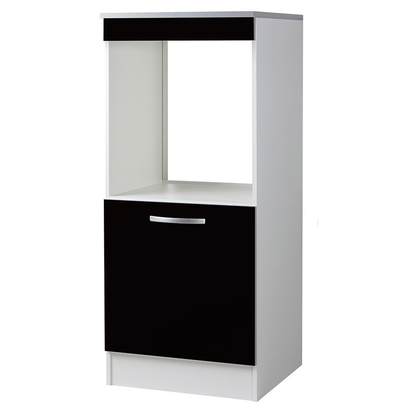 demi colonne de cuisine four 1 porte noir viva. Black Bedroom Furniture Sets. Home Design Ideas