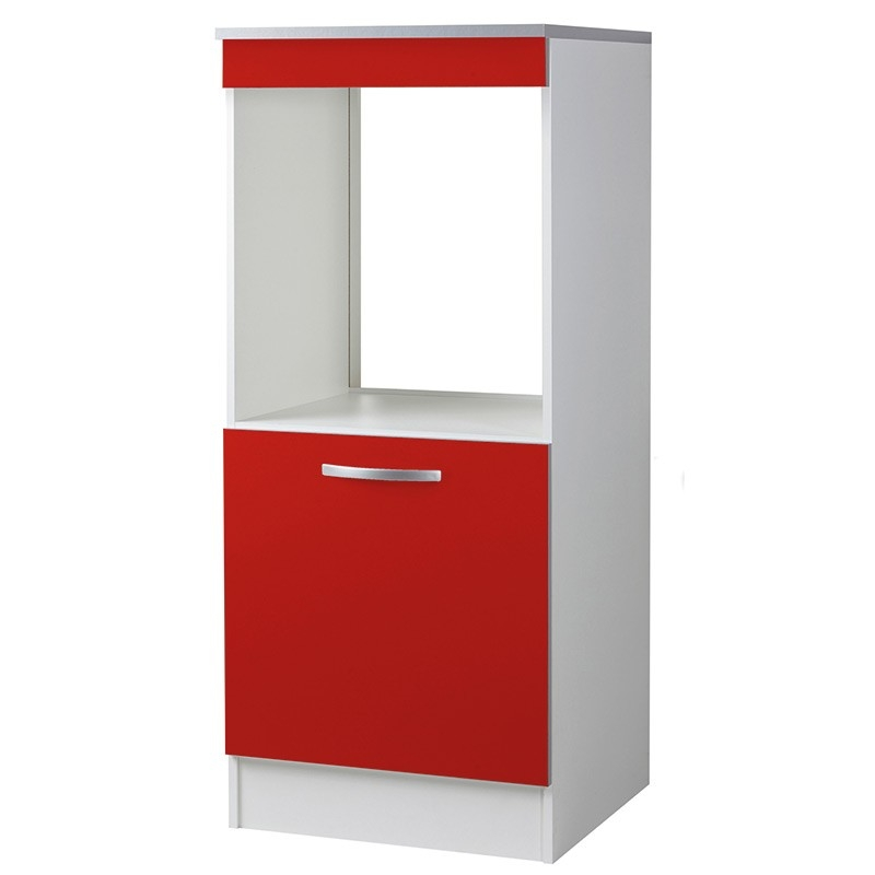 demi colonne de cuisine four 1 porte rouge viva. Black Bedroom Furniture Sets. Home Design Ideas