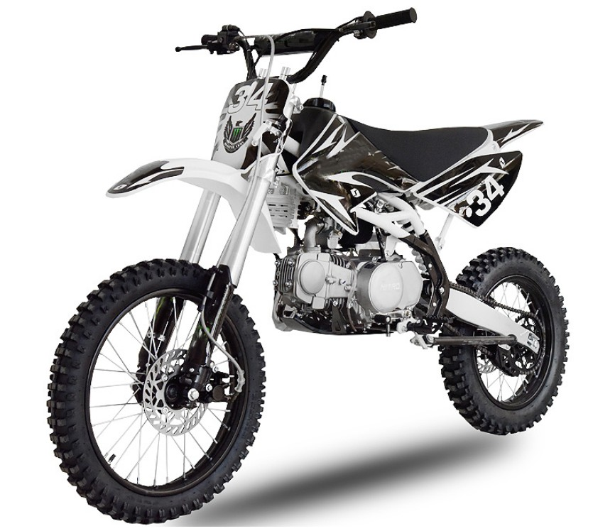 dirt bike 140cc hurrica noir et blanc. Black Bedroom Furniture Sets. Home Design Ideas