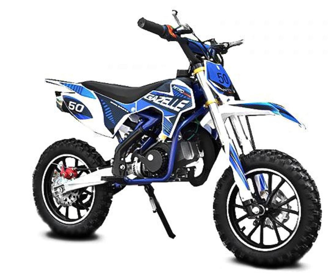 dirt bike 49cc gazelle deluxe 10 10 bleu. Black Bedroom Furniture Sets. Home Design Ideas