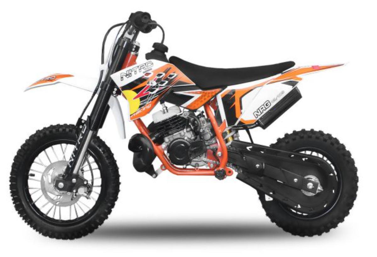 dirt bike 50cc nrg ktm 12 10 9cv kick starter automatique orange. Black Bedroom Furniture Sets. Home Design Ideas