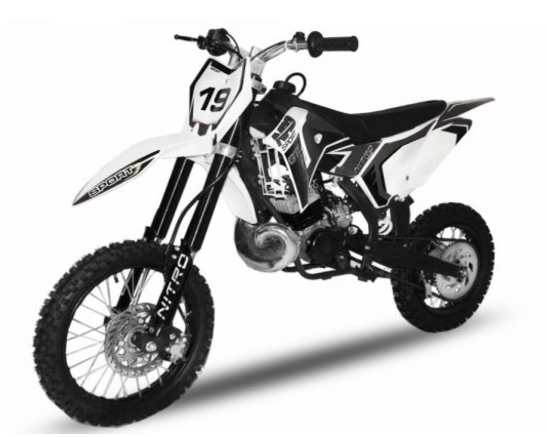 dirt bike 50cc nrg gts hydraulique 14 12 kick starter automatique noir. Black Bedroom Furniture Sets. Home Design Ideas