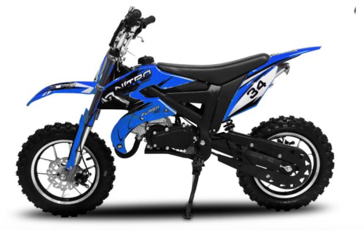 dirt bike enfant essence 49cc flash 10 10 bleu. Black Bedroom Furniture Sets. Home Design Ideas