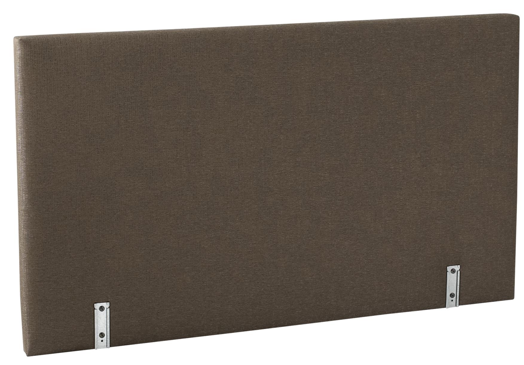 dosser t 90 cm tissu marron relaxima. Black Bedroom Furniture Sets. Home Design Ideas