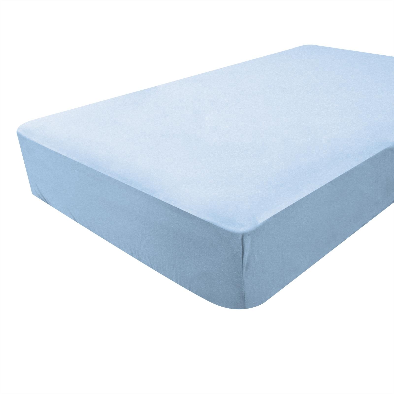 drap housse bleu ciel bambou mod le 40x80 cm. Black Bedroom Furniture Sets. Home Design Ideas