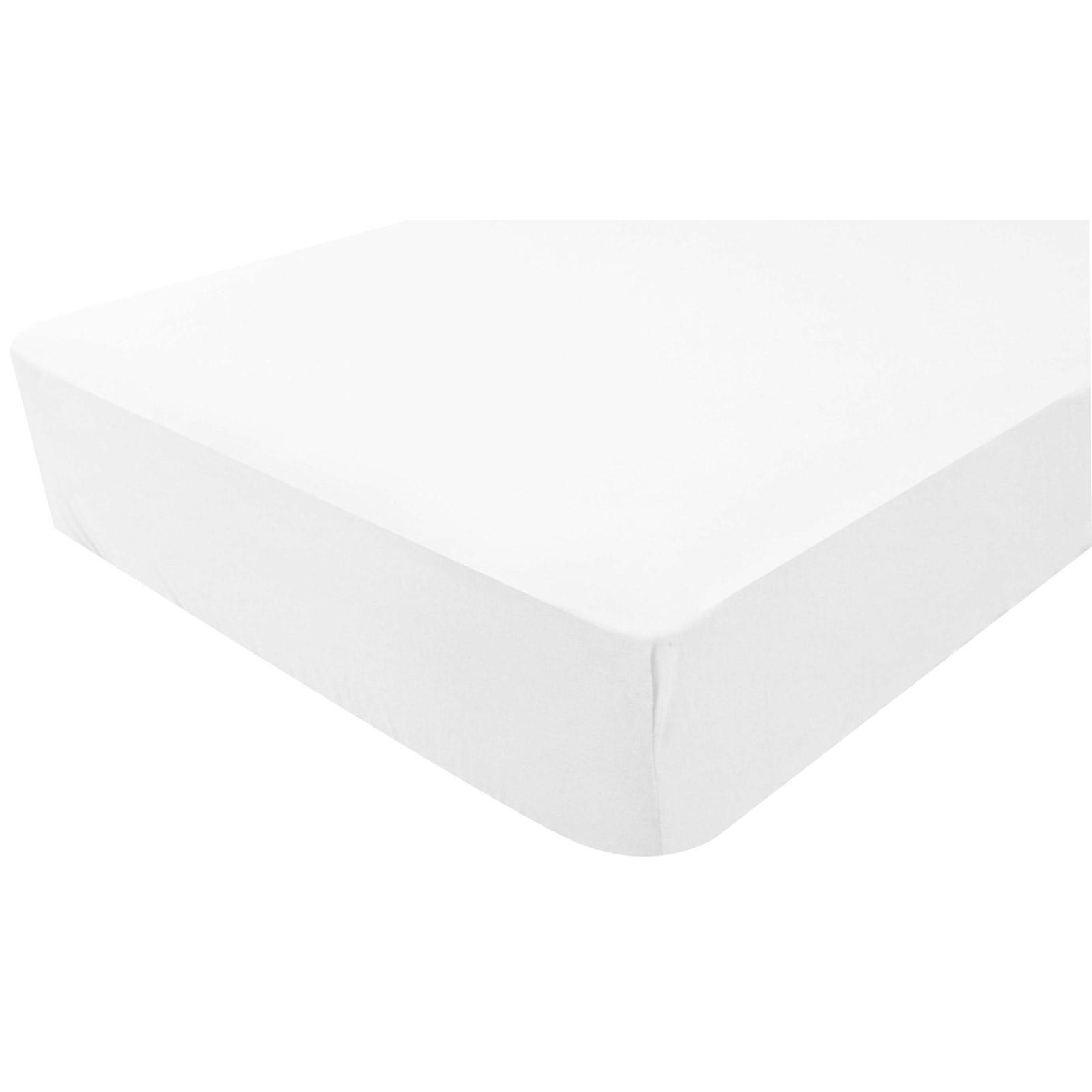 drap housse imperm able blanc doux nid mod le 60x120 cm. Black Bedroom Furniture Sets. Home Design Ideas