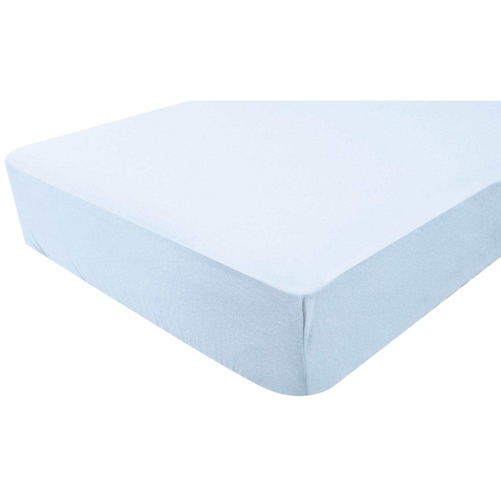 drap housse imperm able bleu doux nid mod le 60x120 cm. Black Bedroom Furniture Sets. Home Design Ideas