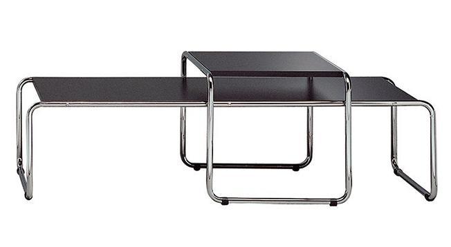 duo tables basses contemporaines bois noir et acier macio. Black Bedroom Furniture Sets. Home Design Ideas