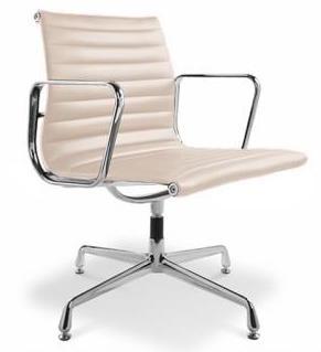 fauteuil de bureau design simili beige musk. Black Bedroom Furniture Sets. Home Design Ideas