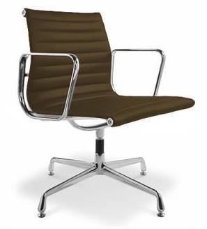 fauteuil de bureau design simili marron musk. Black Bedroom Furniture Sets. Home Design Ideas