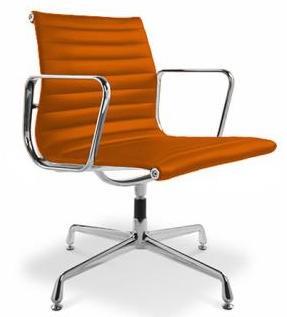 fauteuil de bureau design simili orange musk. Black Bedroom Furniture Sets. Home Design Ideas
