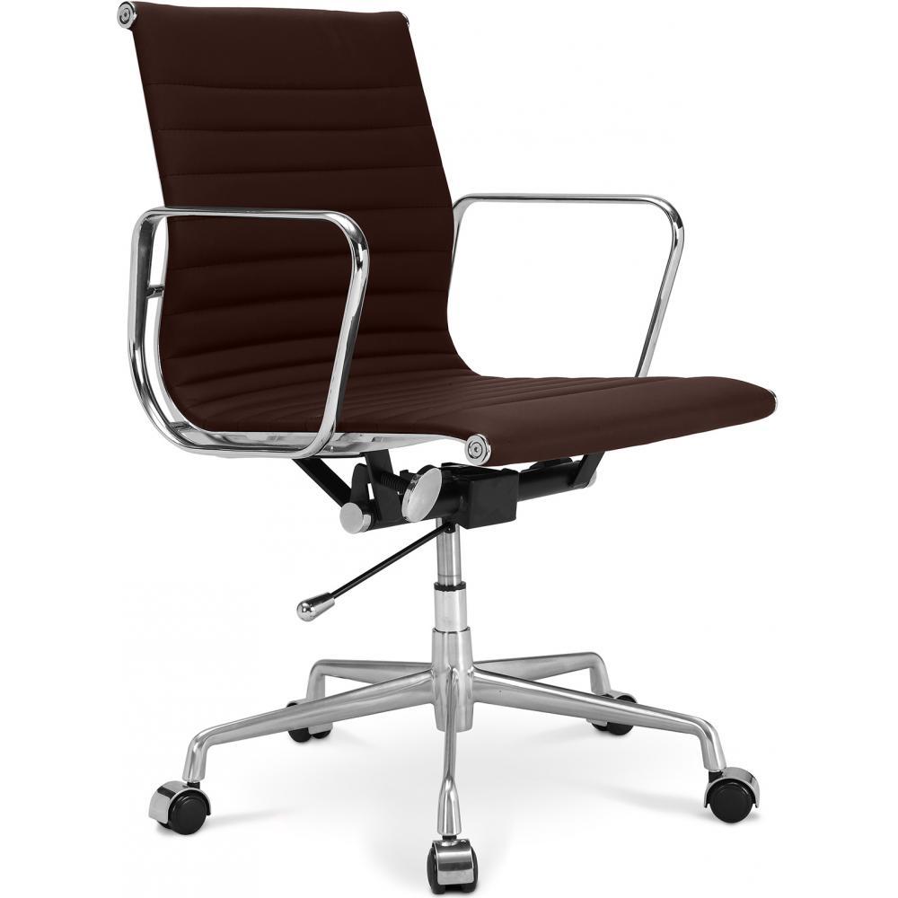 Fauteuil de bureau design cuir marron kase - Fauteuil de bureau design ...
