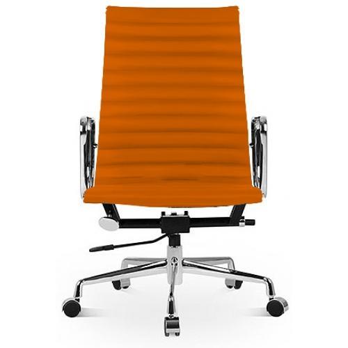 fauteuil de bureau simili orange nose. Black Bedroom Furniture Sets. Home Design Ideas