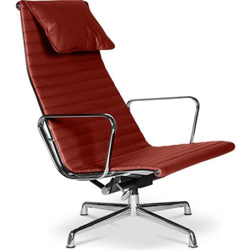 fauteuil de bureau design cuir bordeaux offy. Black Bedroom Furniture Sets. Home Design Ideas
