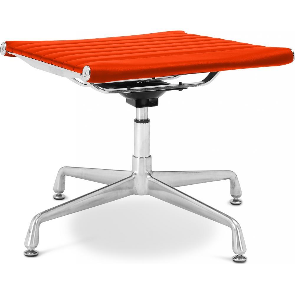 tabouret moderne bas carr simili orange toma. Black Bedroom Furniture Sets. Home Design Ideas