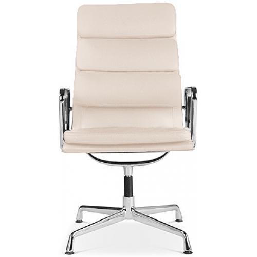 Les tendances fauteuil de bureau raffin cuir beige moggy for Fauteuil eames cuir
