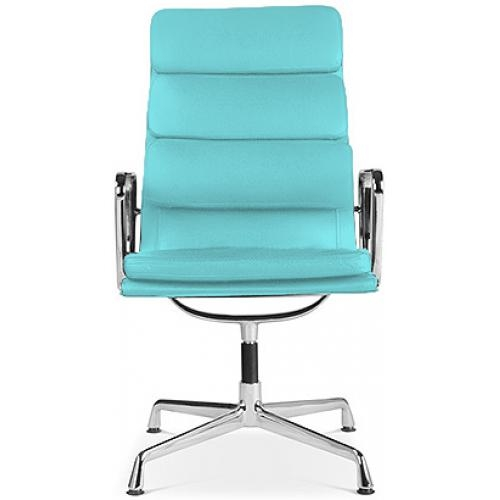 fauteuil de bureau raffin simili turquoise moggy. Black Bedroom Furniture Sets. Home Design Ideas
