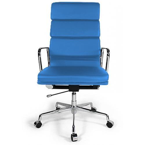 fauteuil de bureau moderne simili bleu ciel sogy. Black Bedroom Furniture Sets. Home Design Ideas