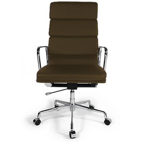 Fauteuil de bureau moderne simili marron sogy - Fauteuil de bureau marron ...