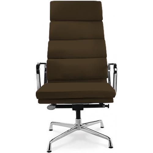 fauteuil de bureau l gant cuir marron boss. Black Bedroom Furniture Sets. Home Design Ideas