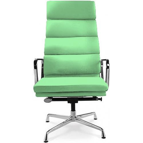 Fauteuil de bureau l gant simili vert boss - Fauteuil de bureau eames ...