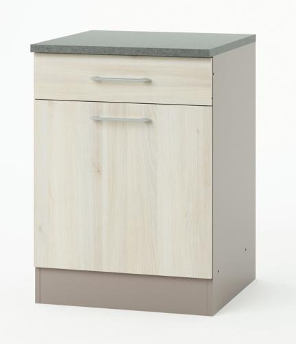 L ment de cuisine bas 1 porte 1 tiroir chef for Porte element de cuisine