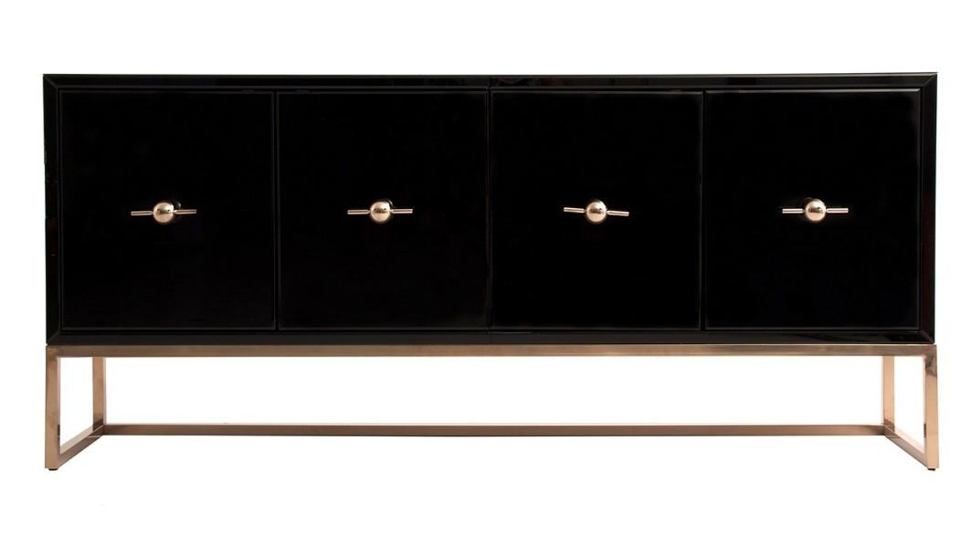 Enfilade design 4 portes miroir teint noir art 39 s for Miroir teinte design
