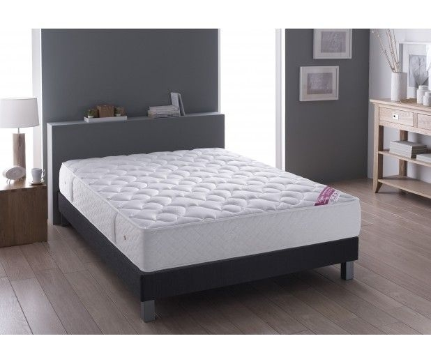 ensemble matelas ressort ensach luxe maxi confort 140 x 190 cm suspension simmons sommier. Black Bedroom Furniture Sets. Home Design Ideas