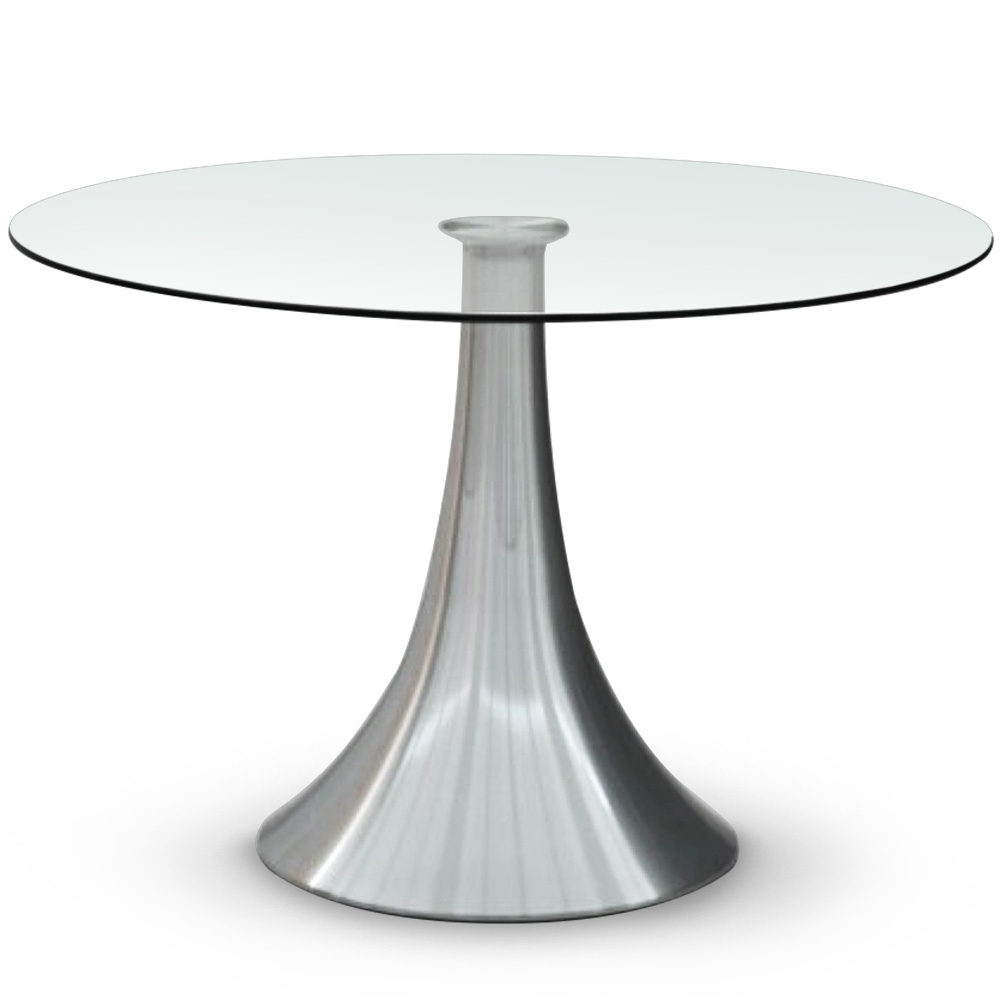 Table de s jour ronde en verre tassia for Table en verre but