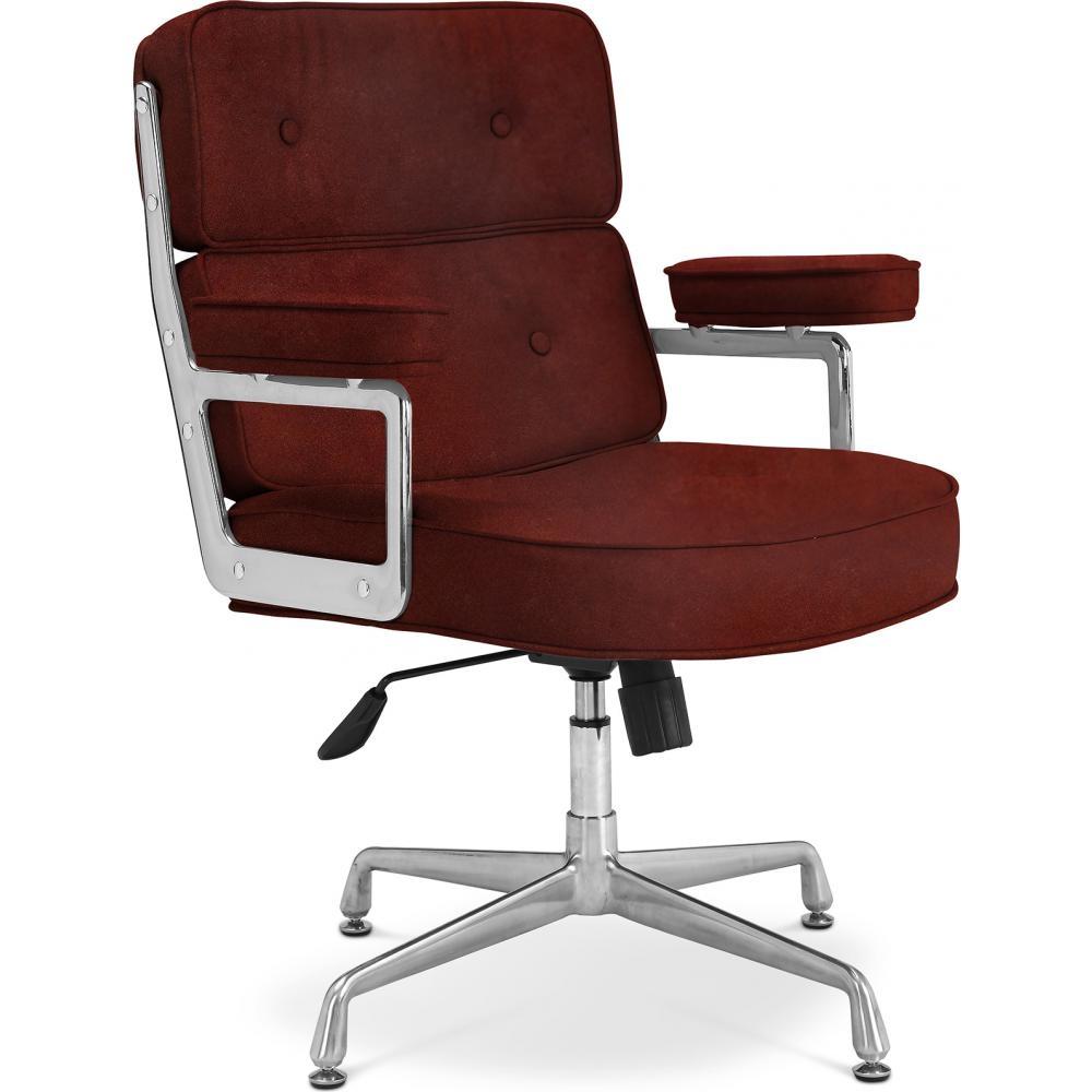 fauteuil de bureau cuir bordeaux konfor lestendances fr
