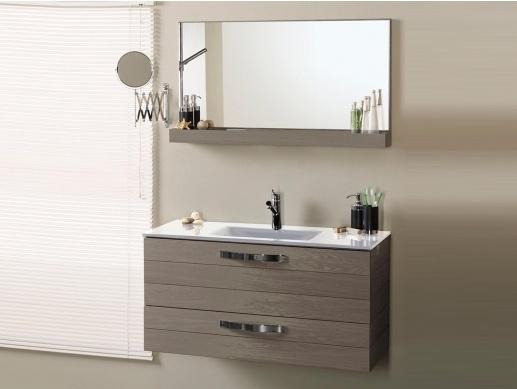 Salle de bain ch ne gris 80 cm porto - Meuble salle de bain chene gris ...