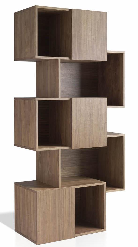 biblioth que moderne bois noyer loza. Black Bedroom Furniture Sets. Home Design Ideas