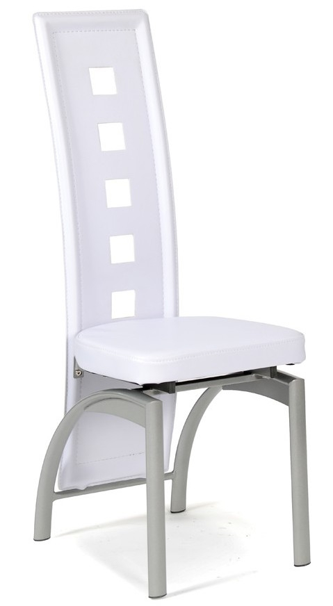 Chaise moderne blanche eva lot de 4 for Chaise blanche accoudoir